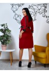 Нарядное весеннее платье 846-03 бордового цвета