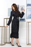 Нарядное весеннее платье 849-01 черного цвета