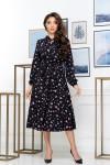 Нарядное весеннее платье 850-01 черного цвета