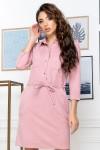 Нарядное весеннее платье 835-01 розового цвета