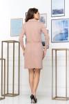 Нарядное весеннее платье 835-02 бежевого цвета