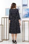 Нарядное весеннее платье 848-02 черного цвета