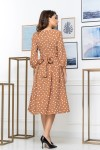 Нарядное весеннее платье 848-03 бежевого цвета