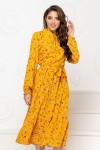 Нарядное весеннее платье 850-02 желтого цвета