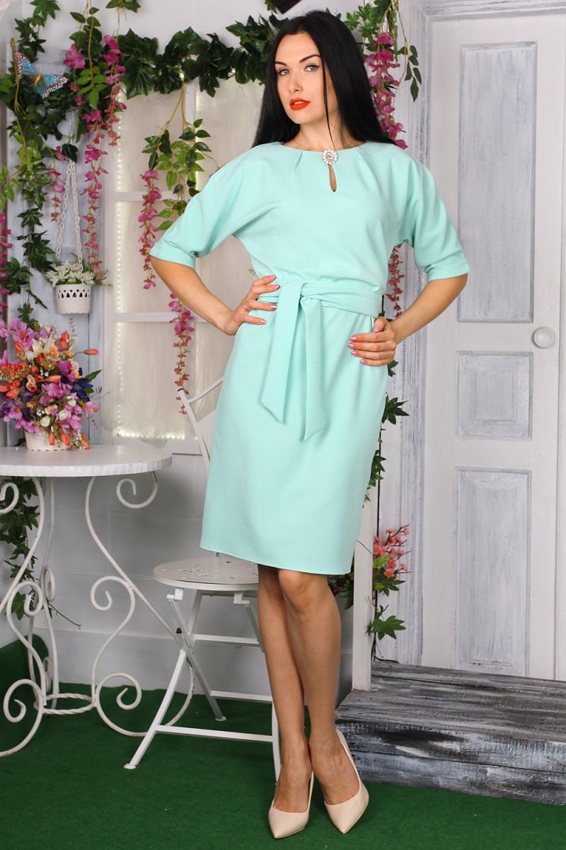 Платье 772-02 цвет мятный
