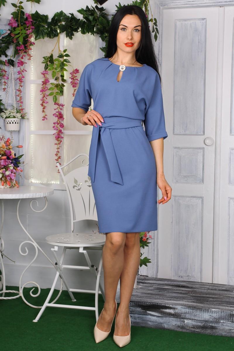 Платье 772-03 цвет синий