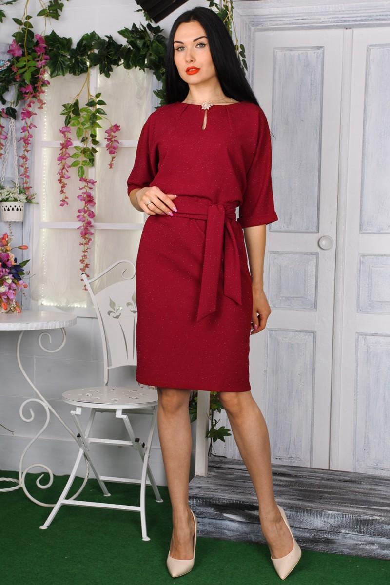 Платье 772-04 цвет бордовый