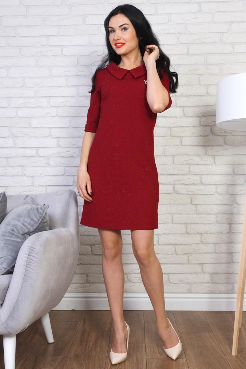 Платье 775-01 цвет бордовый