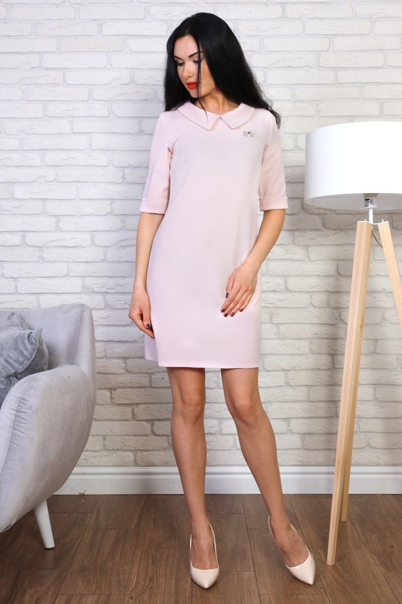 Платье 775-02 цвет пудровый