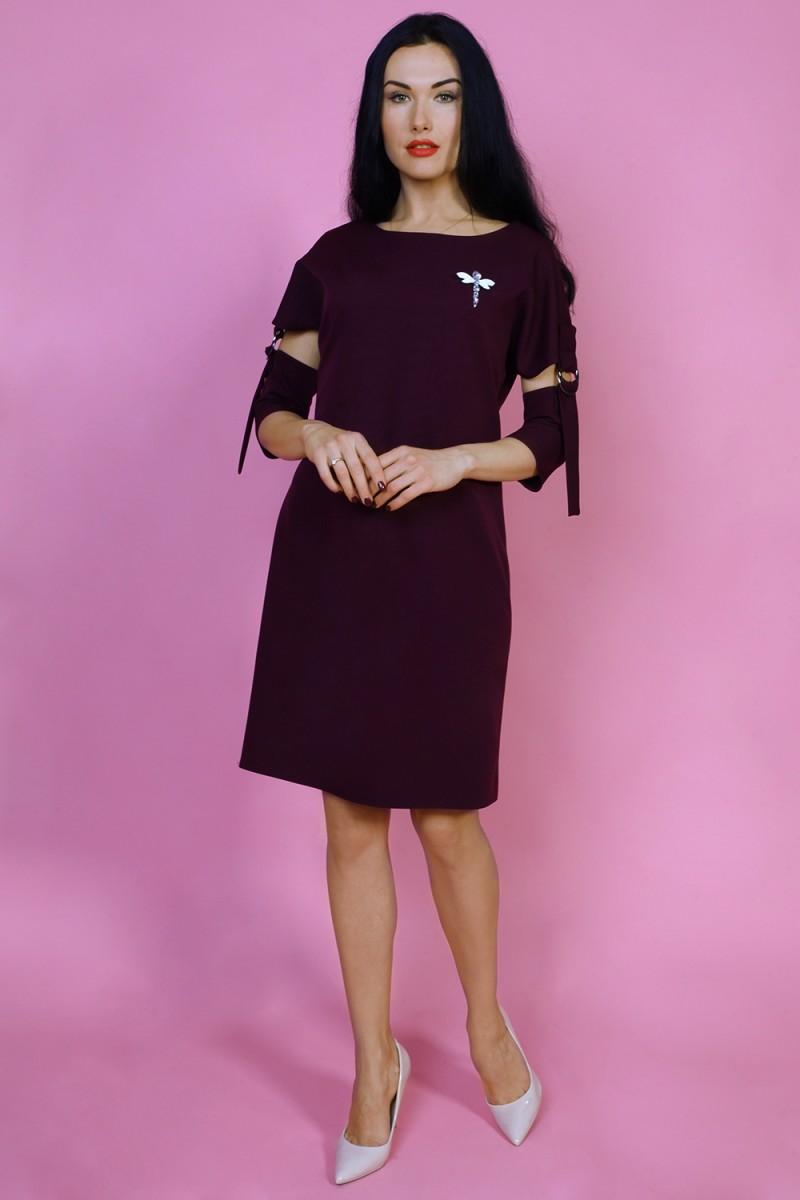 Платье 776-03 цвет бордовый