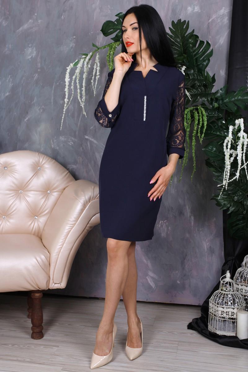 Платье 778-01 цвет темно-синий