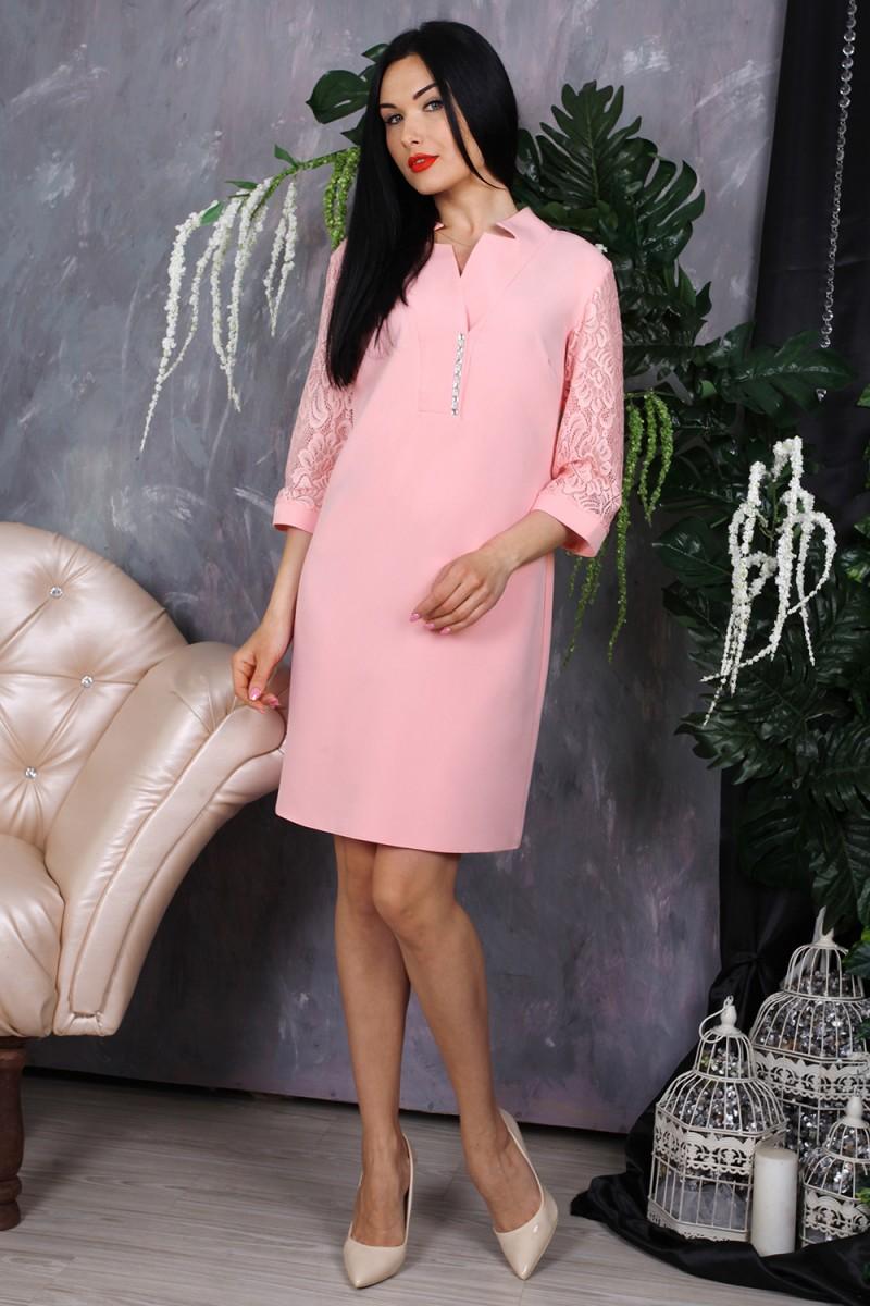 Платье 778-02 цвет пудра