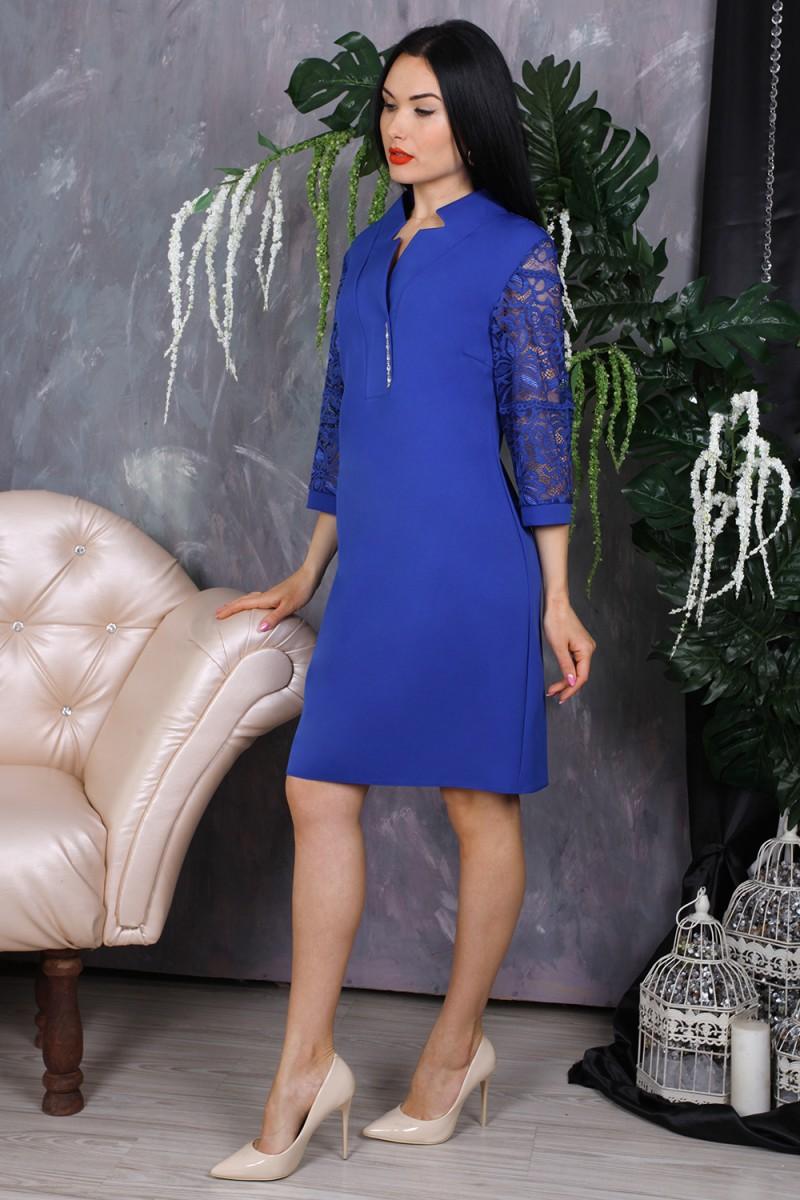 Платье 778-05 цвет синий