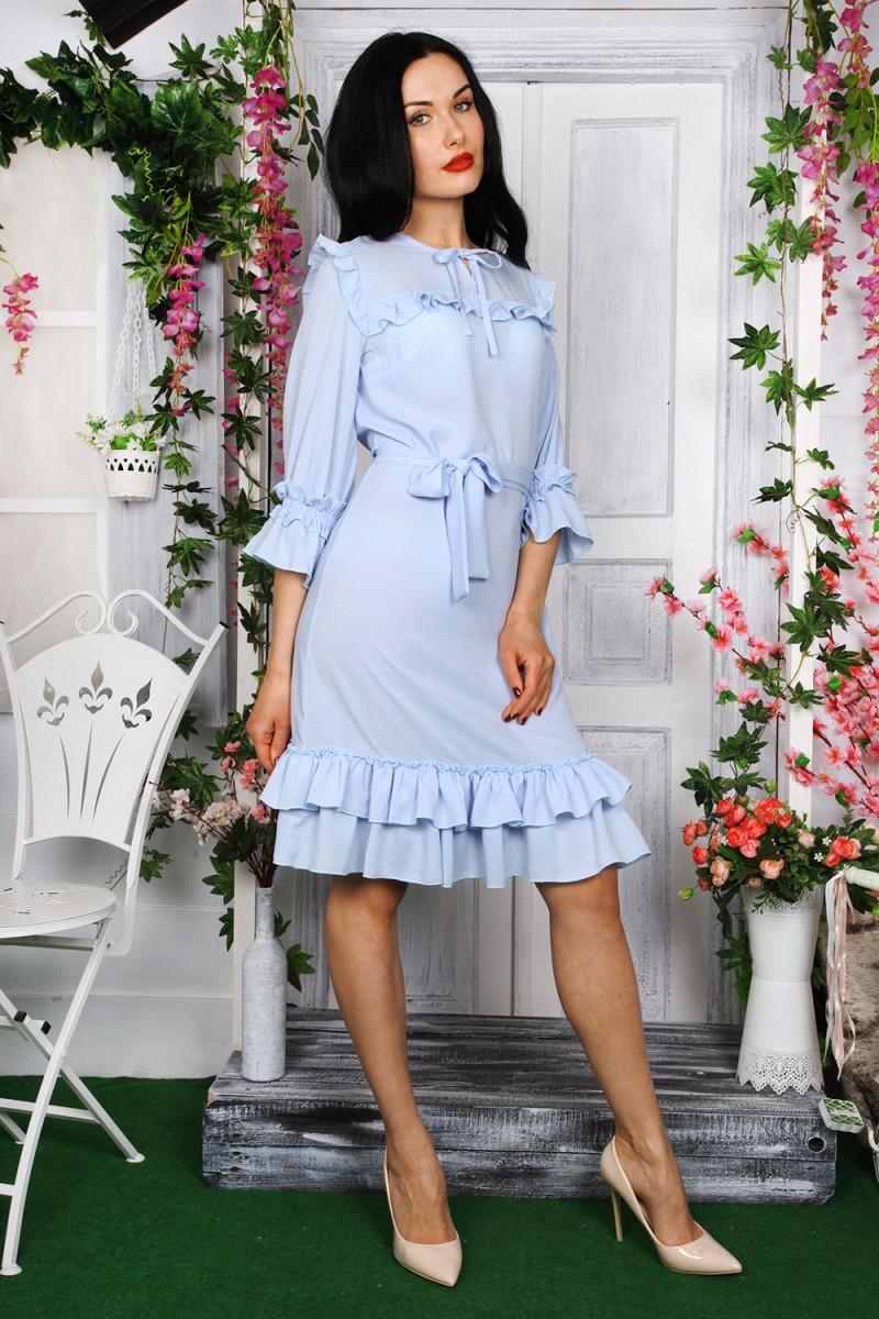 Платье 784-01 цвет голубой