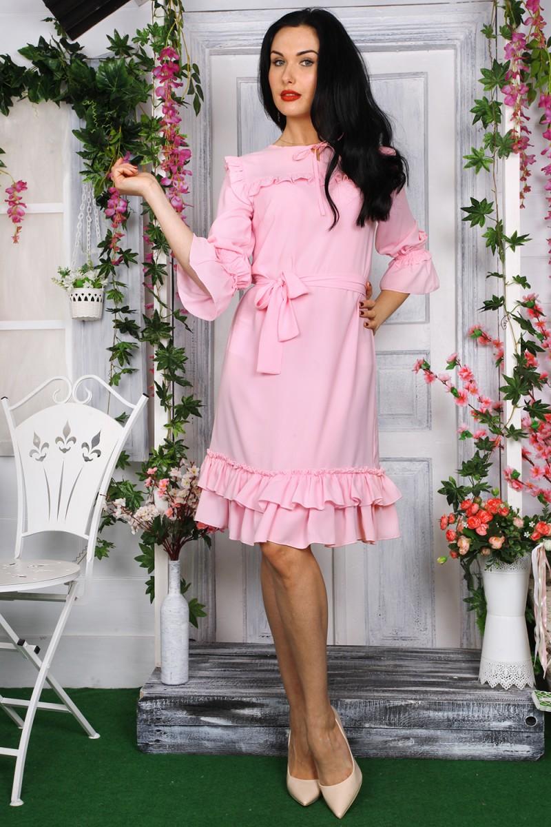 Платье 784-02 цвет пудра