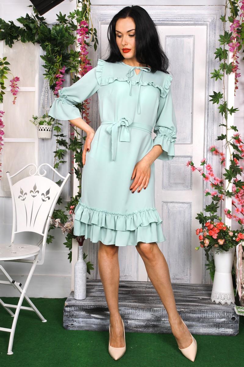 Платье 784-03 цвет мятный