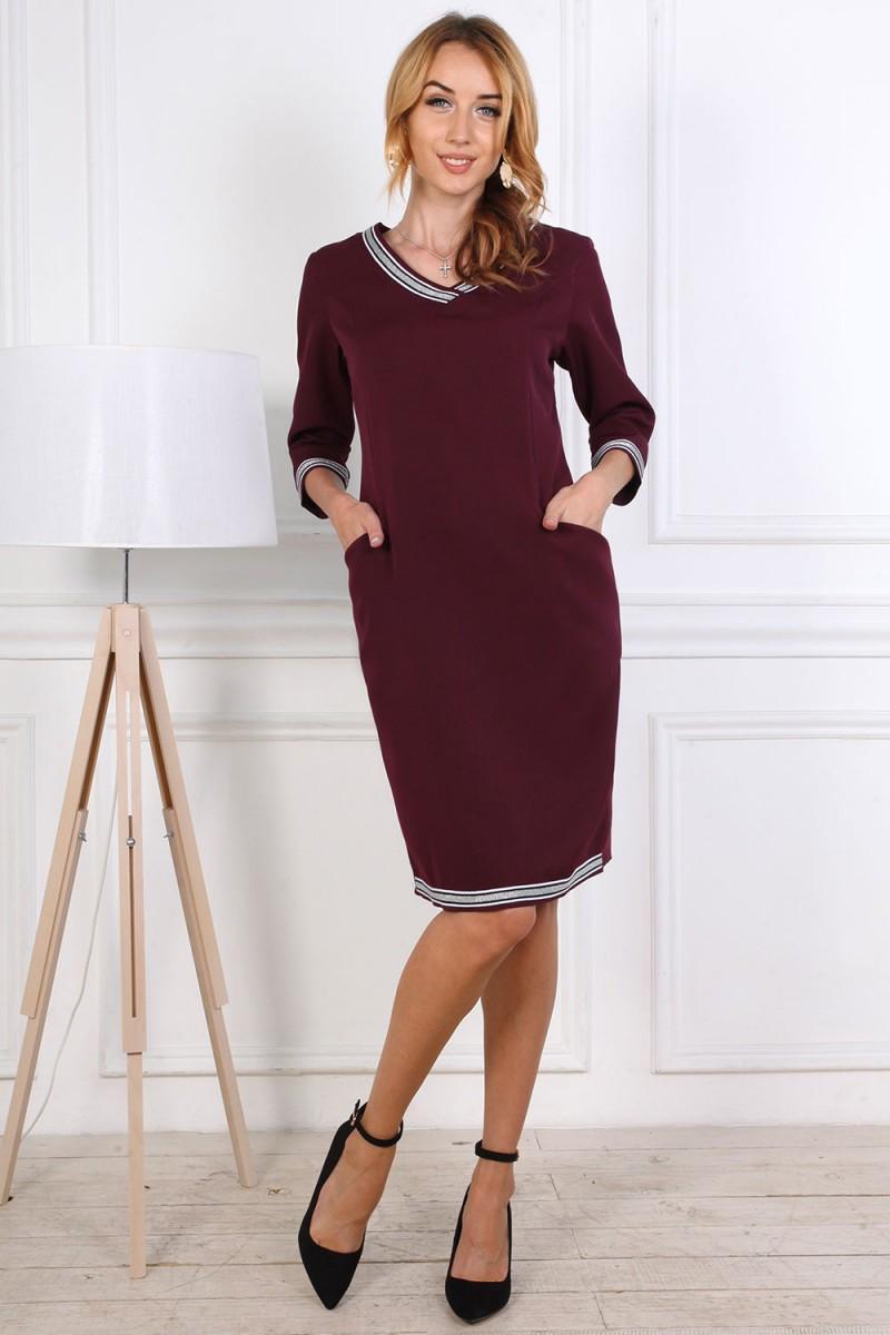 Платье женское 806-02 бордового цвета