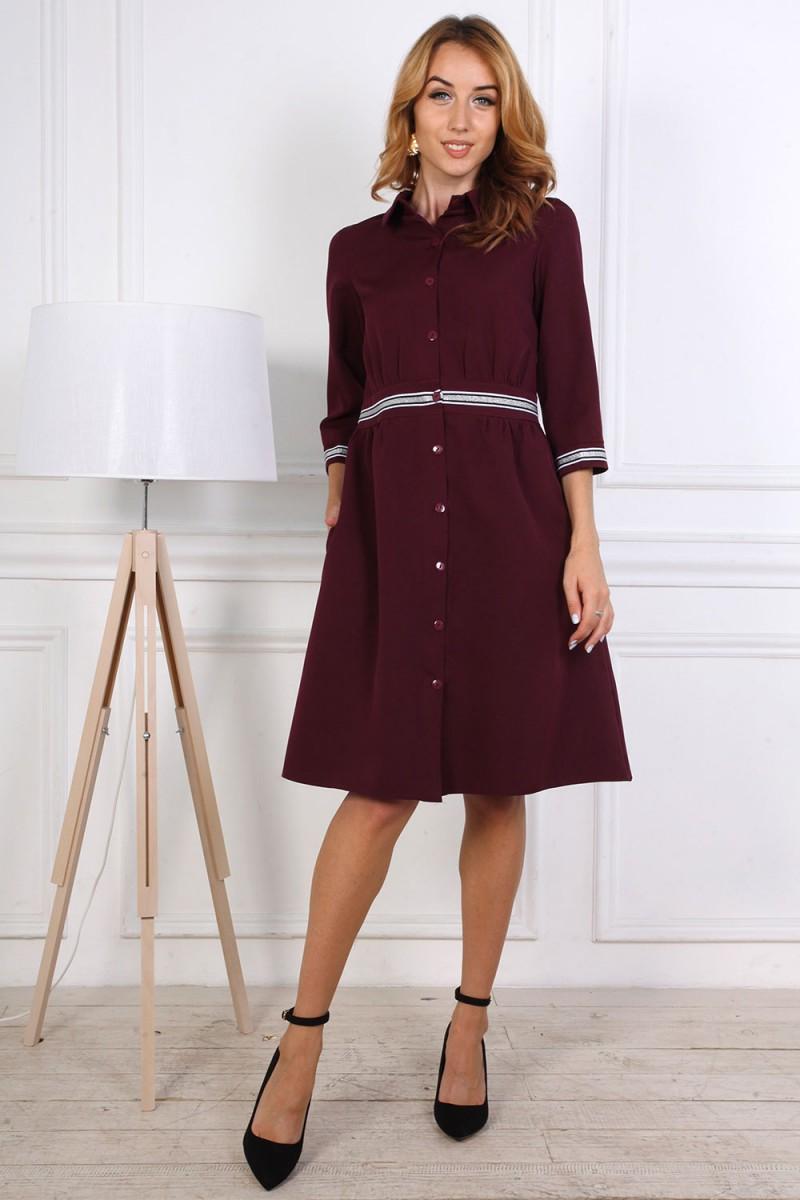 Платье от производителя 807-02 бордового цвета