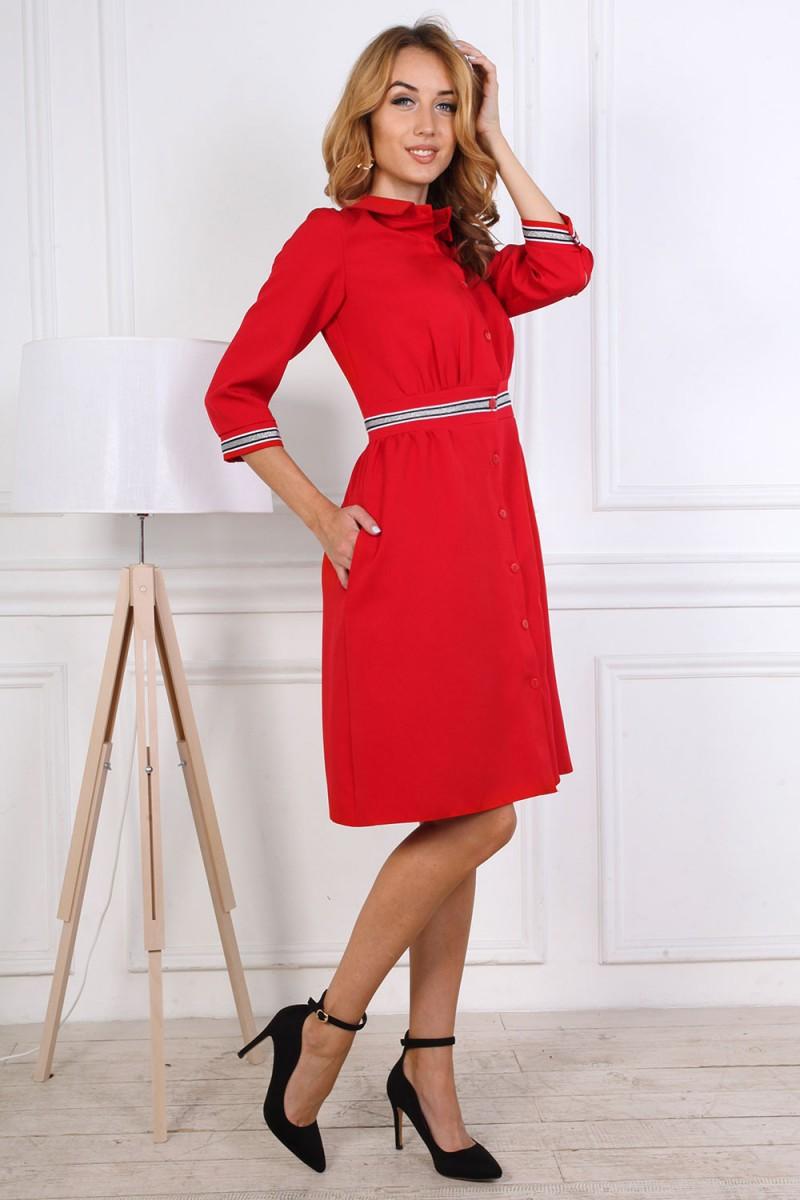 Платье от производителя 807-04 красного цвета