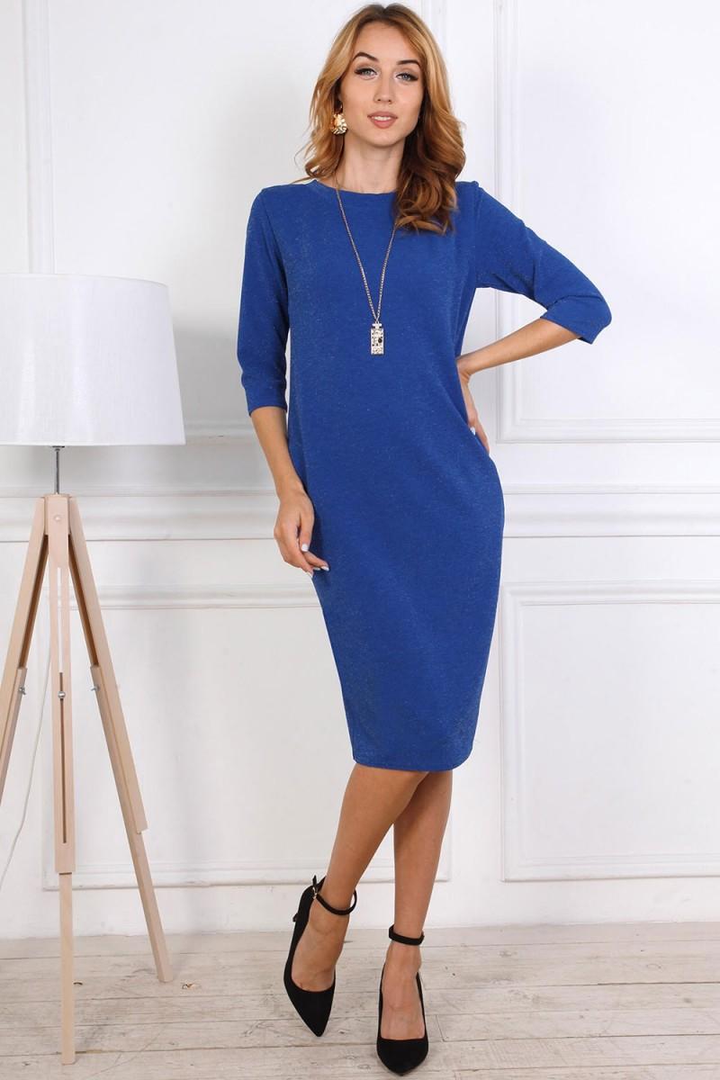 Нарядное платье от производителя 808-02 цвет синий
