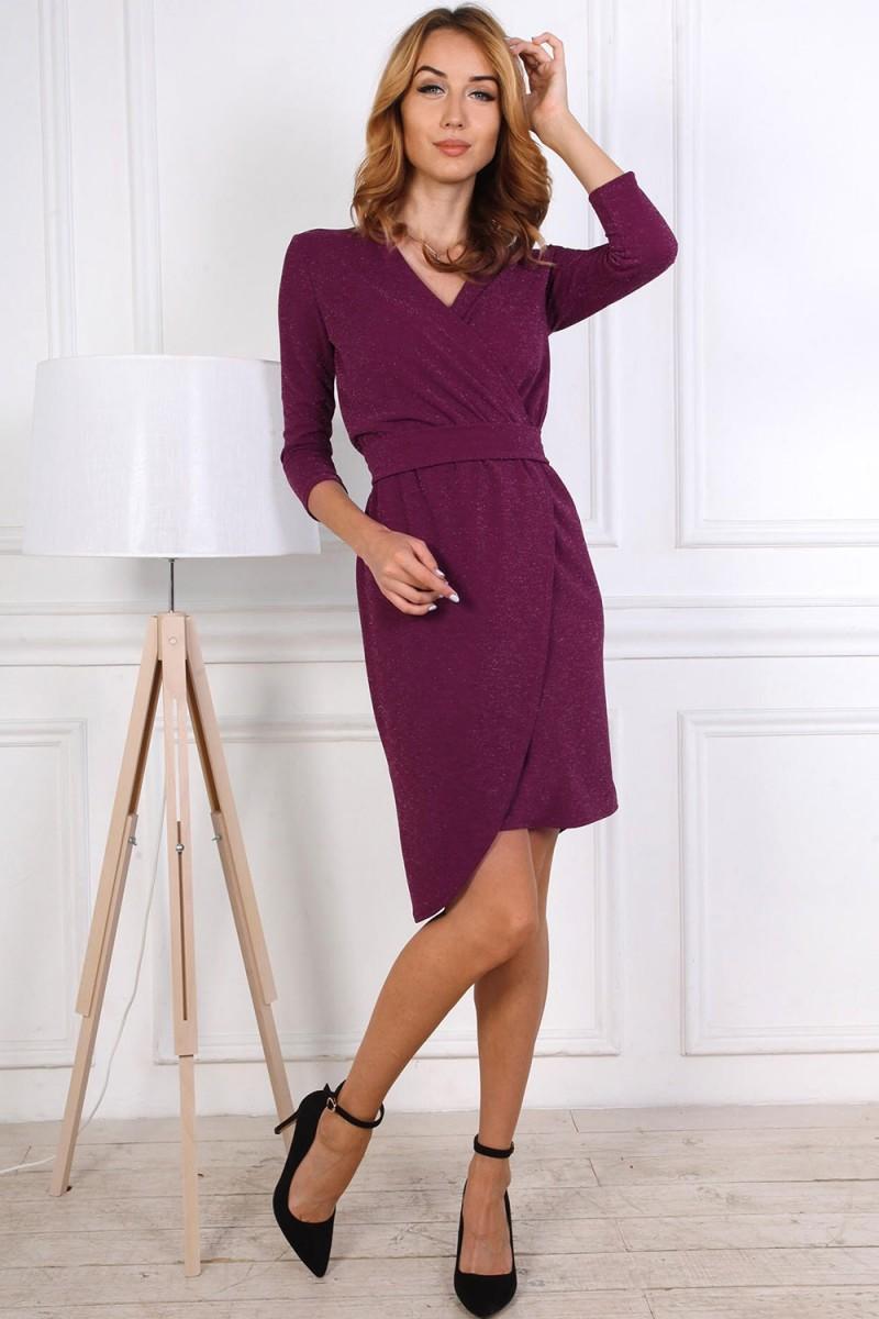 Нарядное платье от производителя 809-03 цвета марсал