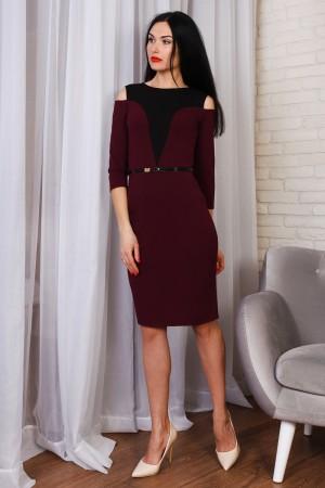Красивое весеннее платье 771-03 марсал