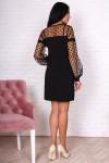 Платье 751-02 цвет черный