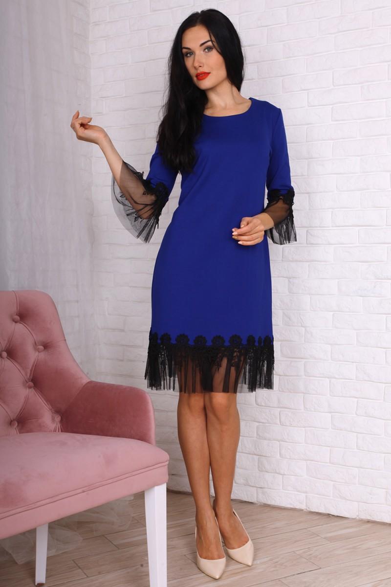 Платье 755-01 цвет электрик