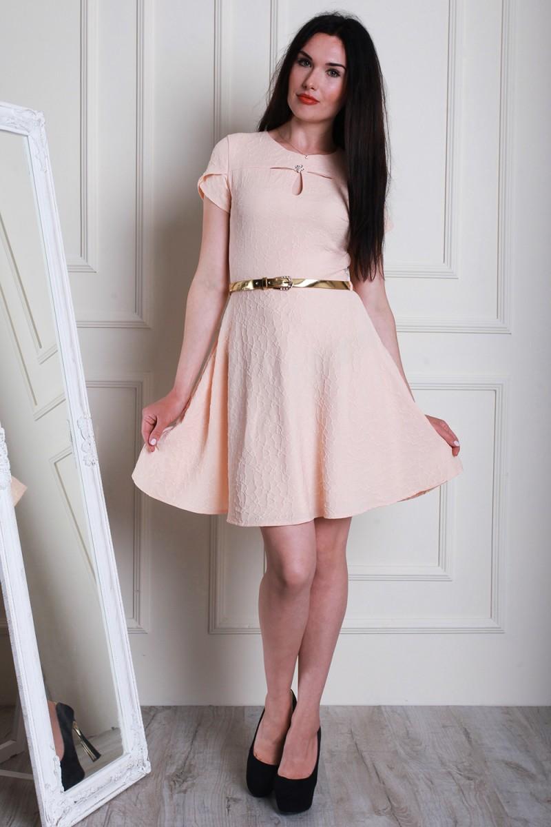 Платье 5469-02 цвет бежевый