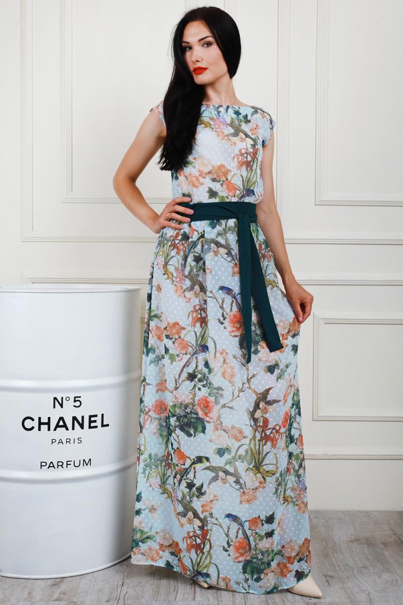 Платье 698-05 цвет голубой