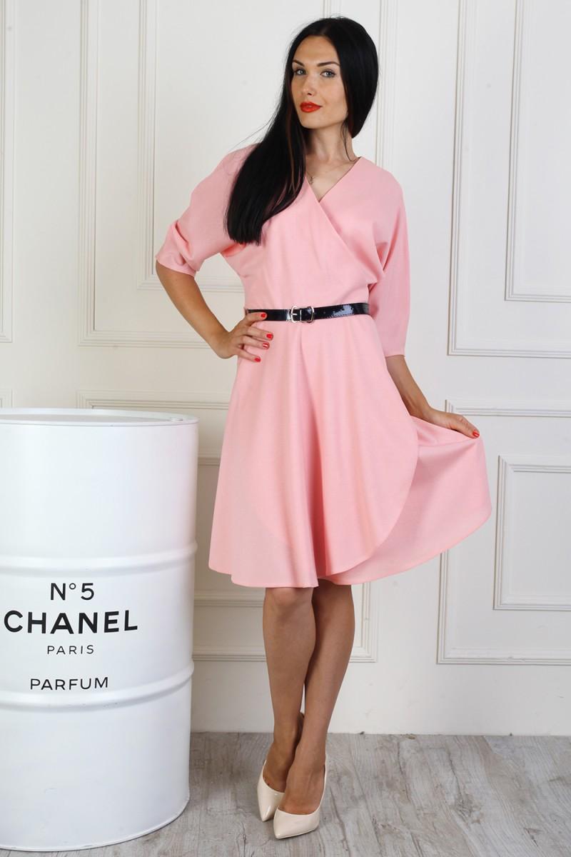 Платье 717-01 цвет пудра