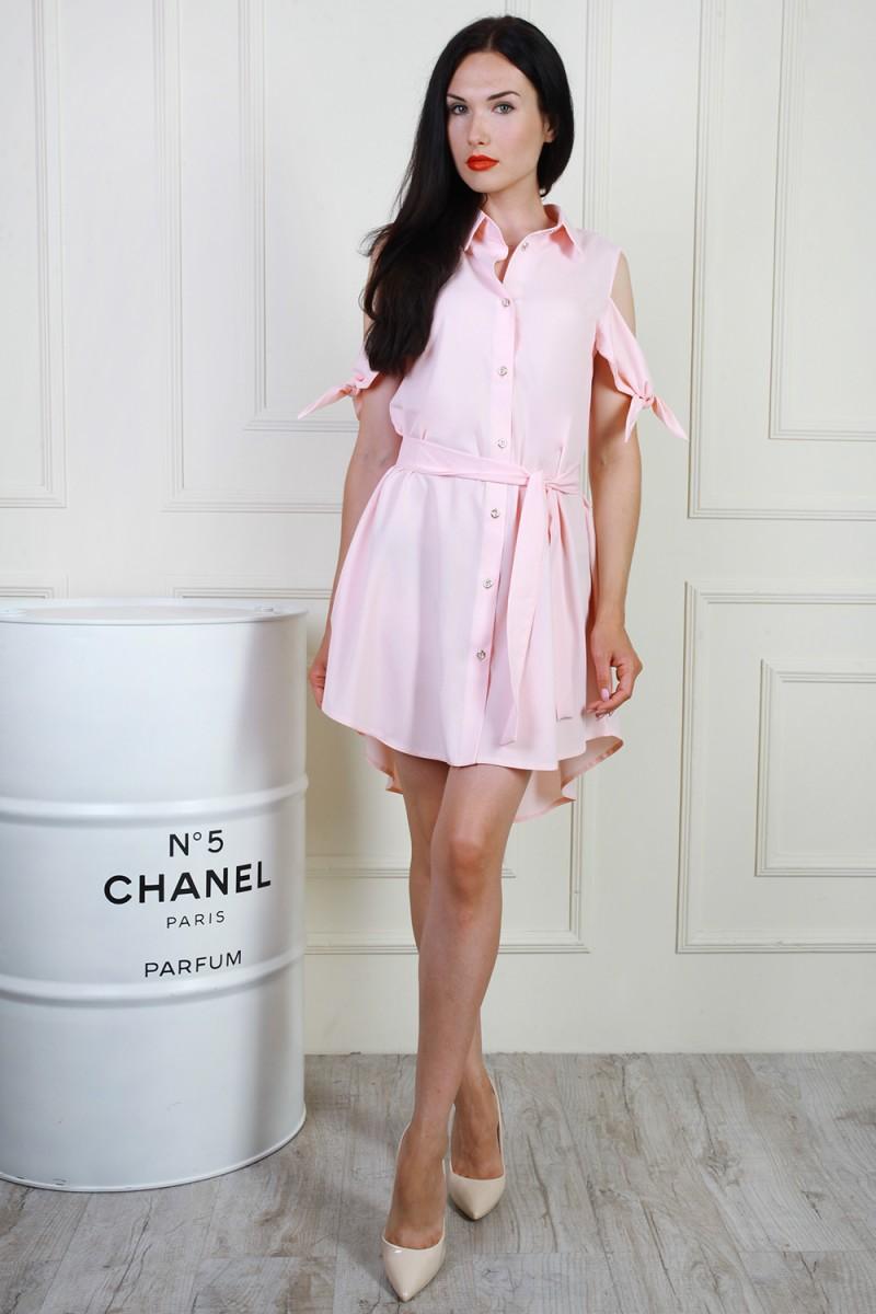 Платье 702-03 цвет пудровый