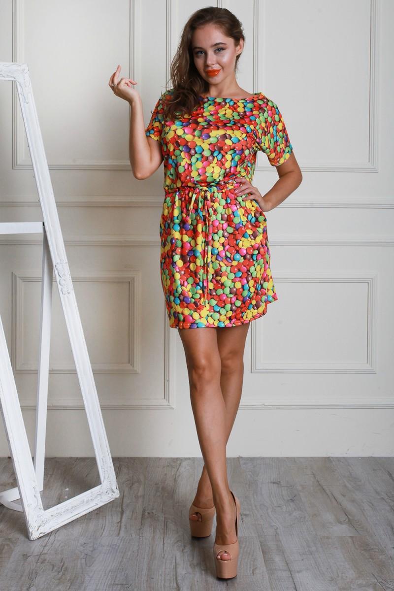 Платье 597-01 цвет желтый