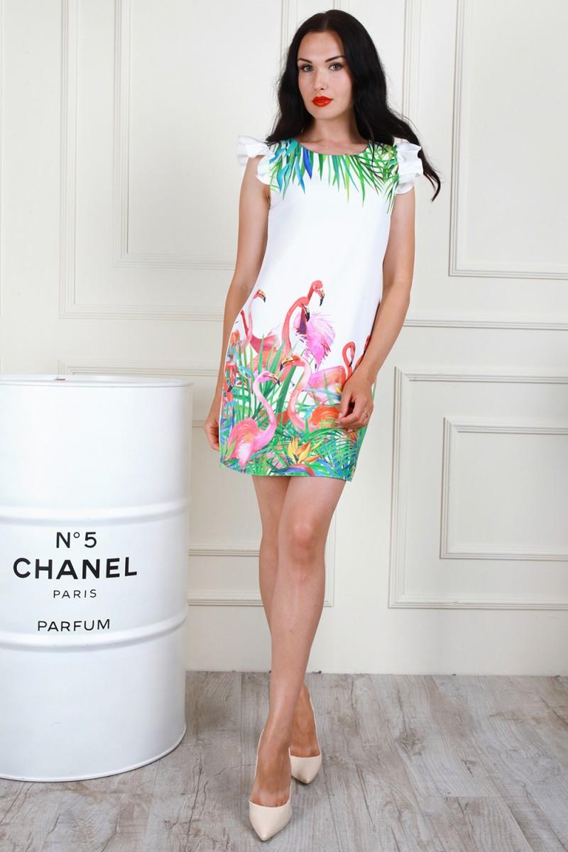 Платье 706-04 цвет молочный