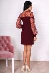 Платье 751-01 цвет марсал
