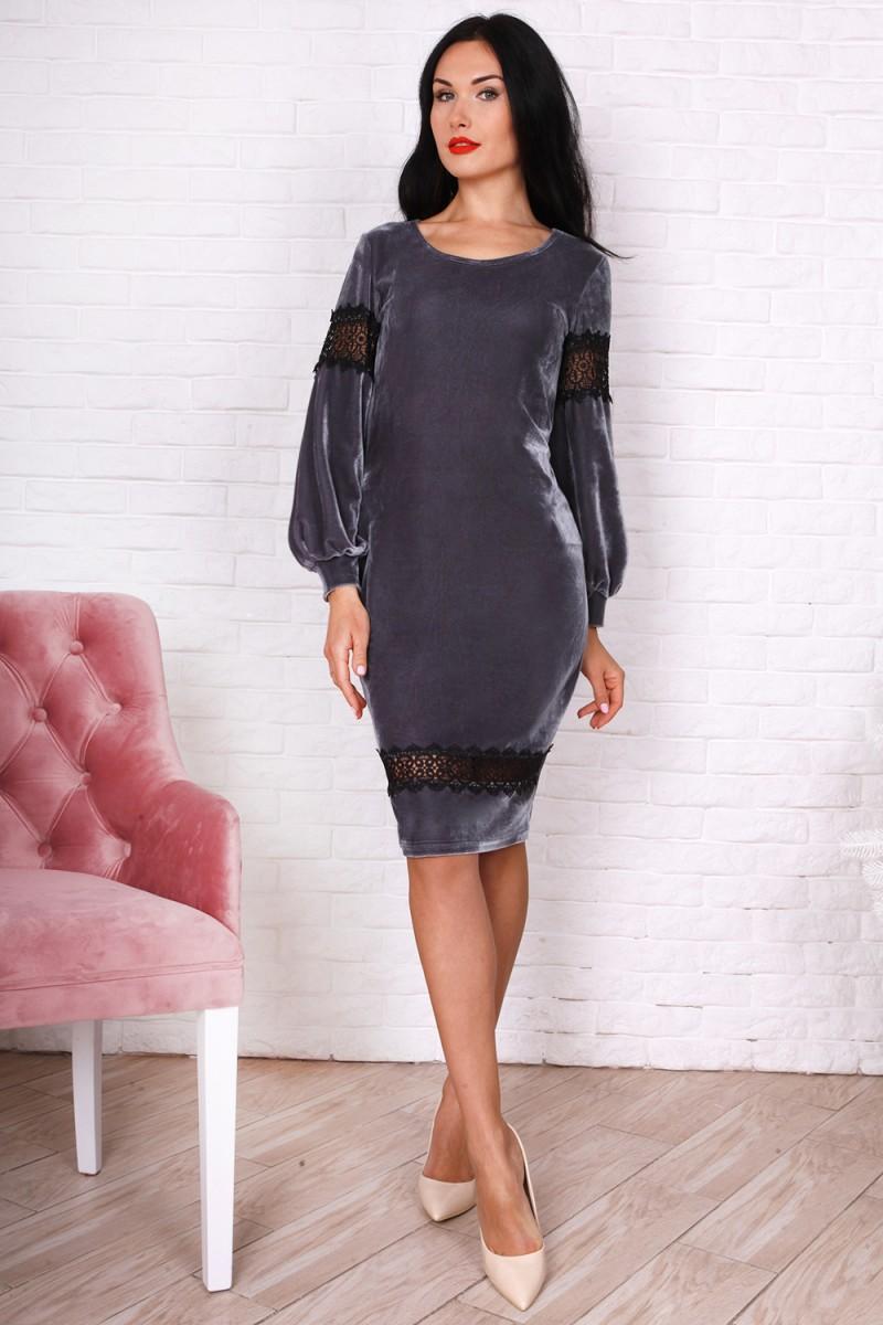 Платье 753-01 графит