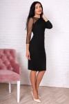 Платье 749-01 цвет черный