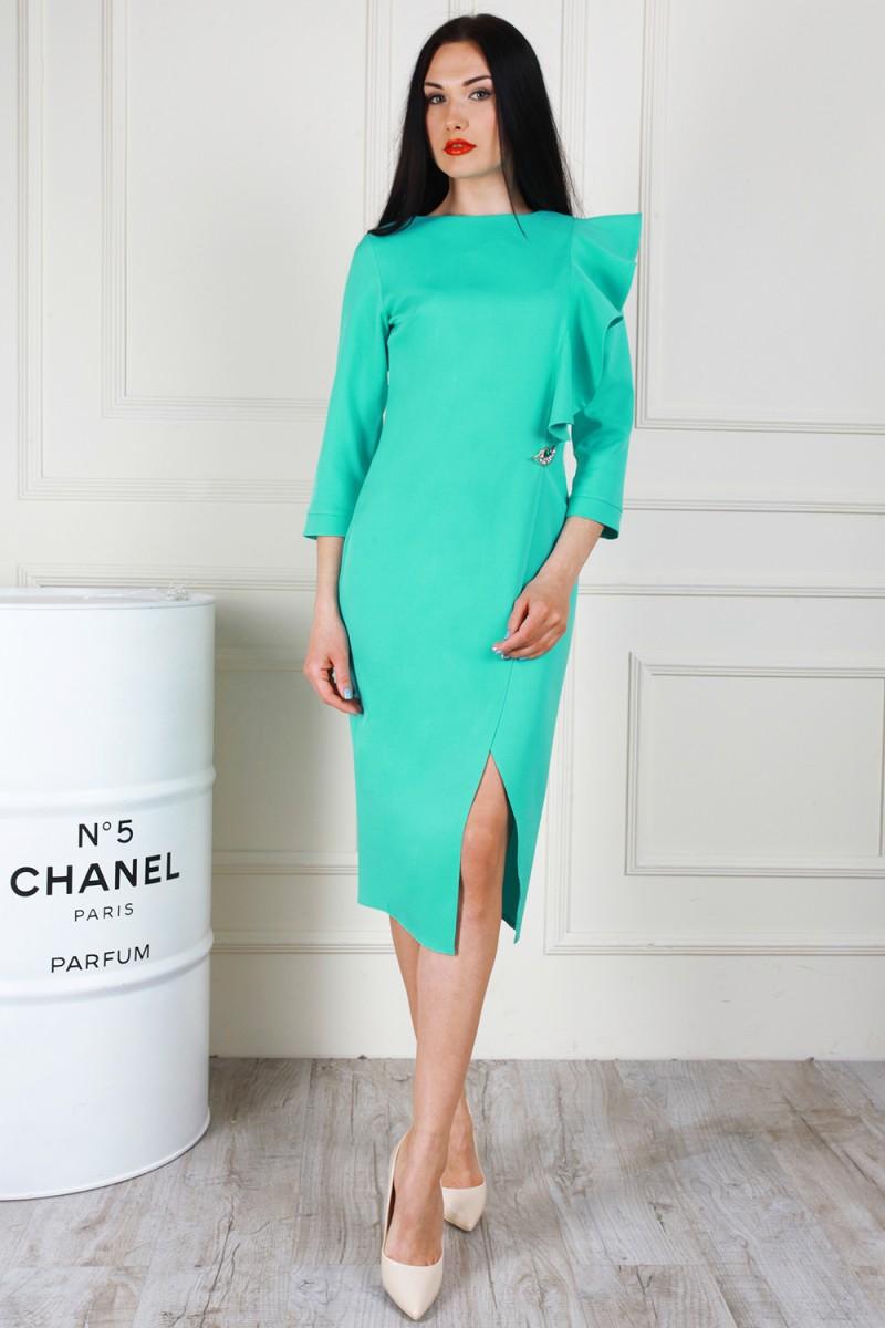 Платье 683-02 цвет мятный