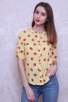 Рубашка 449-01 цвет желтый