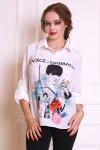 Блуза 556-02 цвет белый
