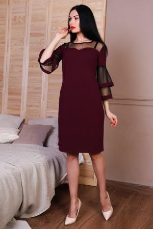 Платье полубатал 767-03 цвет марсал