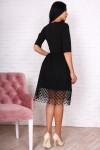 Платье 752-03 цвет черный