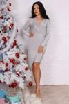 Платье 756-01 цвет серебро