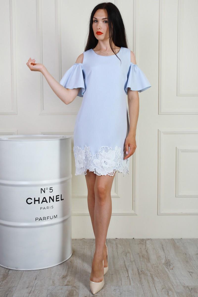 Платье 699-02 цвет светло голубой