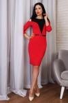 Красивое весеннее платье 771-04 красное