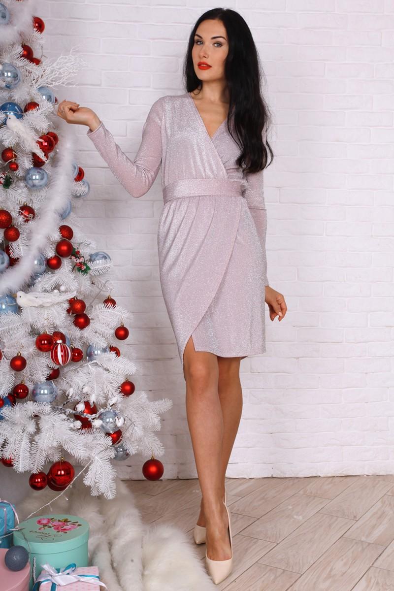 Платье 756-04 цвет пудра