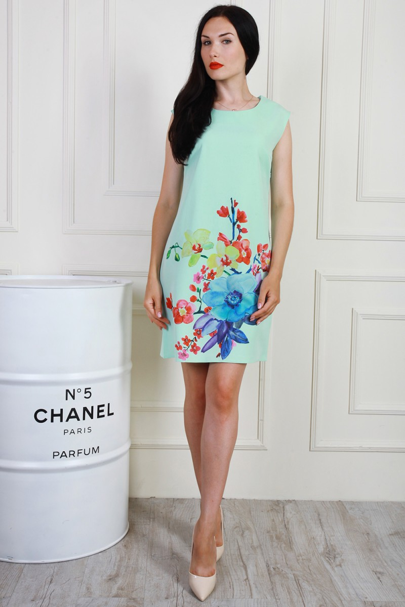 Платье 700-04 цвет мятный
