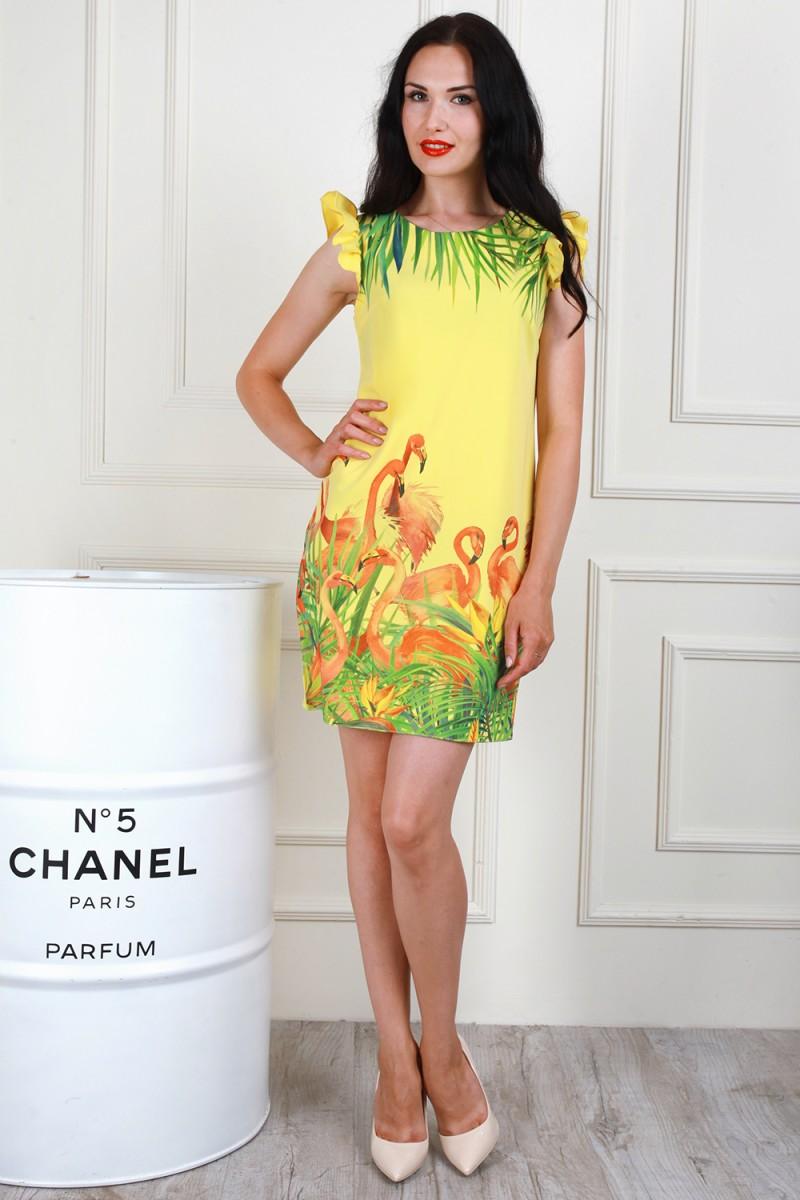 Платье 706-01 цвет лимонный