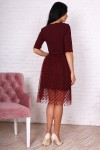 Платье 752-01 цвет марсал