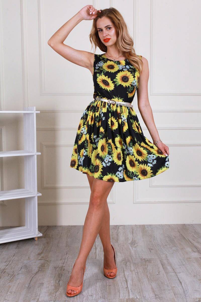 Платье 594-02 цвет черный